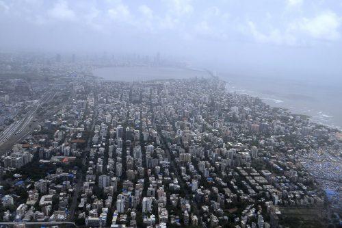 Aerial View Arabian Sea Mumbai